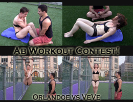 VeVe vs Orlandoe: Ab Workout Contest