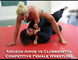 Amazon Annie vs Clobberetta: Competitive Female Wrestling