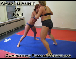 Amazon Annie vs Kali: Female Submission Wrestling