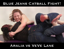 blue jeans catball fight