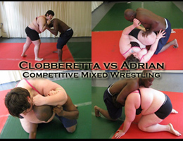 Clobberetta vs Adrian Mixed Wrestling