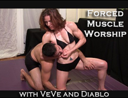 Forced Muscle Worship: VeVe Lane