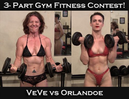 VeVe vs Orlandoe: Gym Fitness Contest