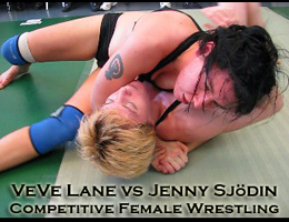 VeVe Lane vs Jenny Sjodin: Competitive Female Wrestling