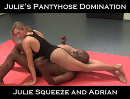 Julie Squeeze Pantyhose Domination