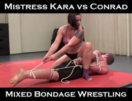 Mistress Kara Bondage Wrestling