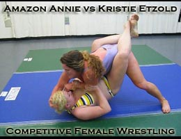 Amazon Annie vs Kristie Etzold: Competitive Female Wrestling