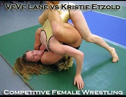 VeVe Lane vs Kristie Etzold: Competitive Female Wrestling