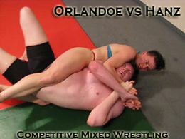 Orlandoe vs Hanz: Competitive Mixed Wrestling