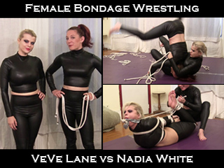 VeVe Lane vs Nadia White: Female Bondage Wrestling