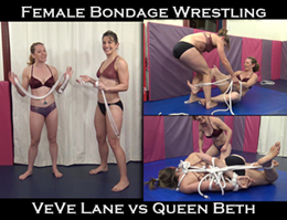 veve lane vs queen beth bondage wrestling