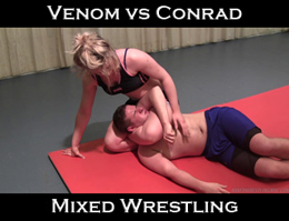 Venom vs Conrad: Mixed Wrestling