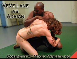 VeVe vs Adrian: Competitive Mixed Wrestling
