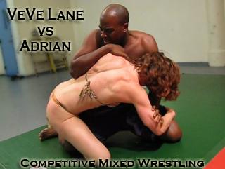 Adrian vs VeVe Lane Mixed Wrestling