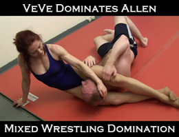 VeVe vs Allen: Mixed Wrestling