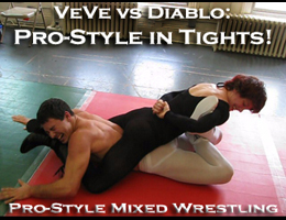 Pro Style Mixed Wrestling Video