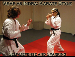 VeVe and Indra Karate Style