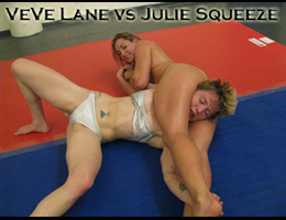 VeVe Lane vs Julie Squeeze. Competitive Female Wrestling
