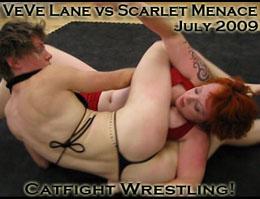 VeVe vs Scarlet, Female Catfight Wrestling Video